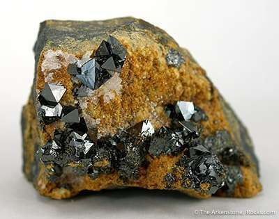 Jacobsite With Crystals to 6Mm