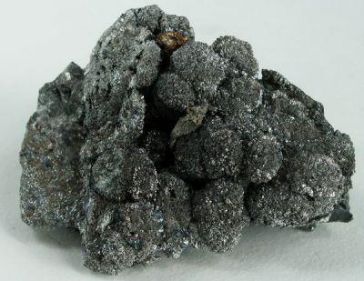 Skutterudite (Var: Smaltite), Silver