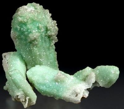 Smithsonite (Var: Cuprian Smithsonite), Azurite, Mimetite