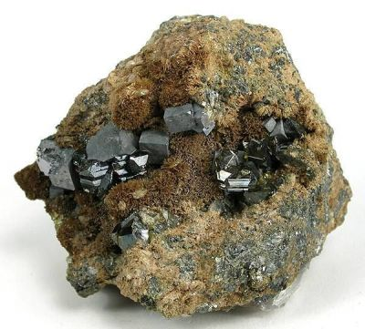 Sphalerite, Galena, Johannsenite