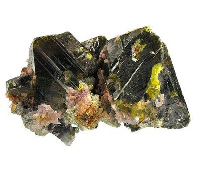 Sphalerite, Quartz (Var: Amethyst)