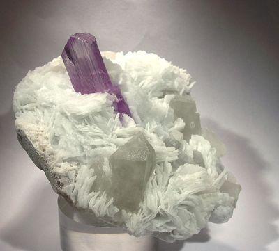 Spodumene (Var: Kunzite), Quartz, Albite (Var: Cleavelandite)