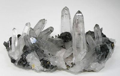 Stannite, Bismuthinite, Quartz