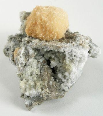 Strontianite, Calcite, Fluorite