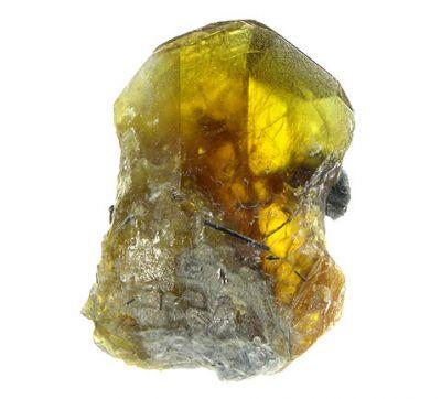 Titanite, Actinolite (Var: Byssolite)