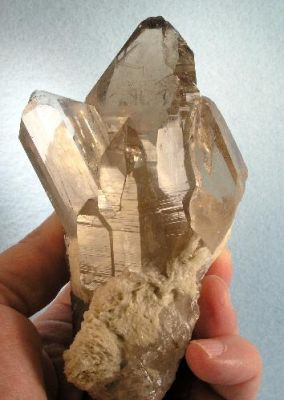 Topaz, Quartz (Var: Smoky Quartz)