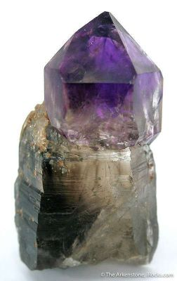 Amethyst Scepter on Smoky Quartz