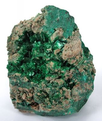 Torbernite, Malachite