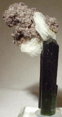 Tourmaline, Lepidolite, Albite (Var: Cleavelandite)