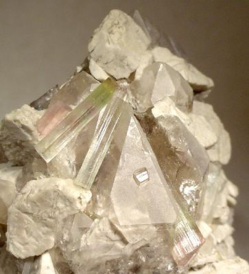 Tourmaline, Microcline, Quartz