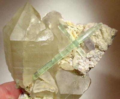 Tourmaline, Quartz (Var: Smoky Quartz), Albite (Var: Cleavelandite), Lepidolite