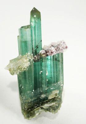 Tourmaline (Var: Indicolite), Lepidolite