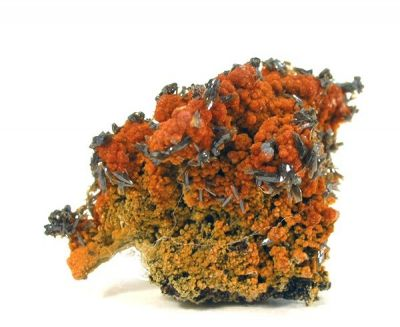 Vanadinite, Vanadinite (Var: Arsenatian Vanadinite), Descloizite