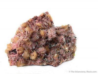 Manganaxinite on Rhodonite