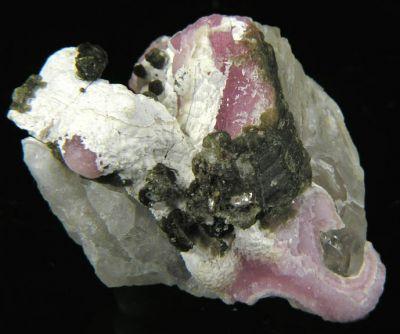 Zanazziite, Eosphorite, Quartz (Var: Rose Quartz)