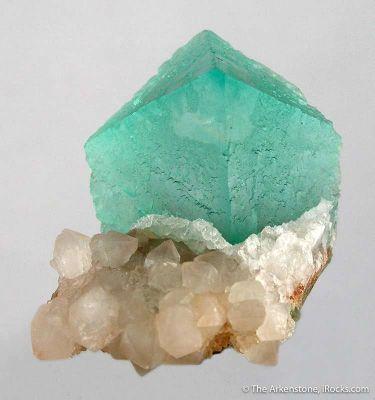 Fluorite Imitating Topaz