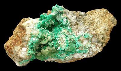 Annabergite With Cuprian Smithsonite