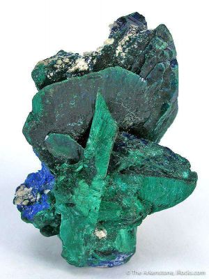 Malachite Ps. Azurite With Azurite