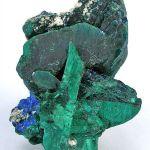 Malachite Ps. Azurite With Azurite