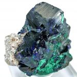 Azurite With Malachite Ps. Azurite