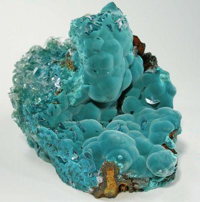 Rosasite With Calcite