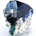 Azurite With Malachite Ps. Azurite