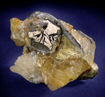 Native Bismuth With Joseite