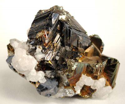 Sphalerite (Twinned) With Chalcopyrite