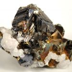 Sphalerite (Twinned) With Chalcopyrite