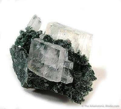 Calcite on Mottramite