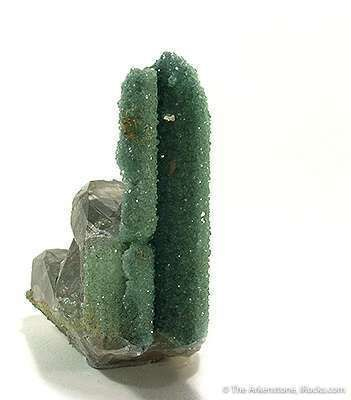 Cuprian Smithsonite on and With Cerussite