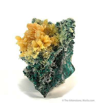 Mimetite on Quartz and Tennantite