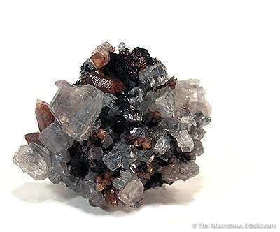 Cerussite With Smithsonite Included By Hematite