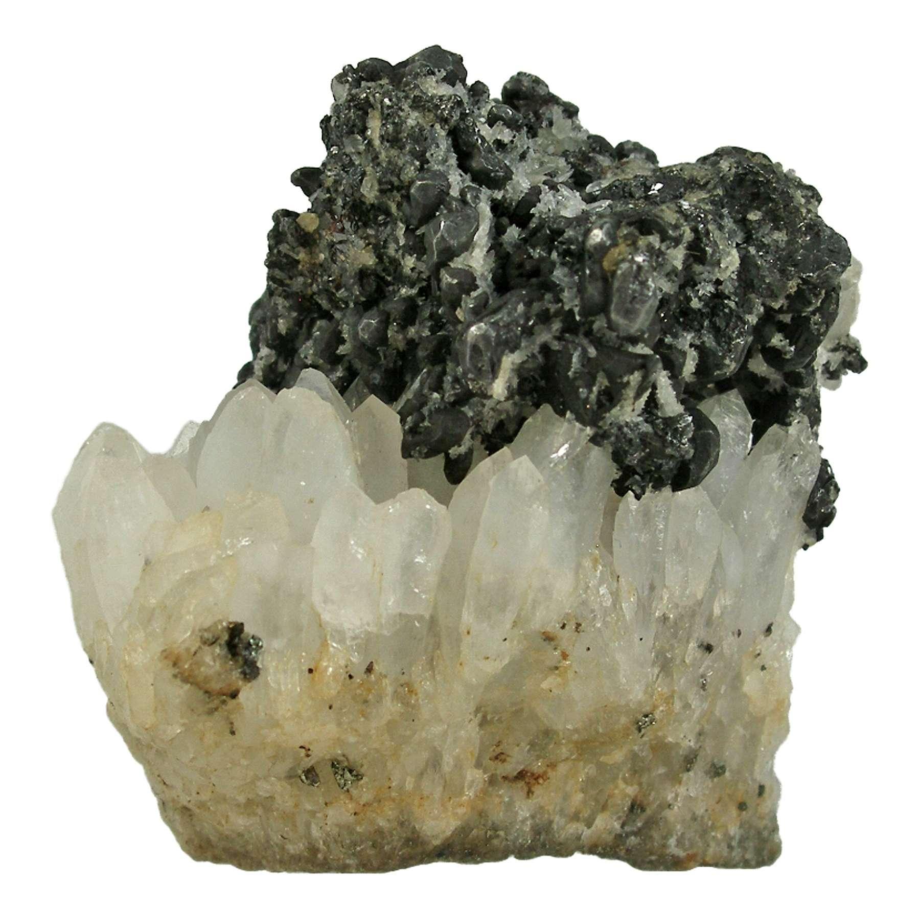 Acanthite On Quartz Circa 1800s D10 58 Comstock Lode Nevada Mineral Specimen