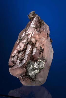 Calcite Included With Copper, With Copper & Quartz
