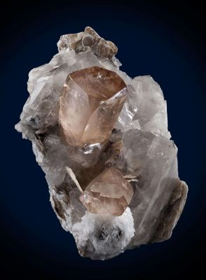 Topaz on Quartz With Muscovite