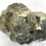 Pyrite on Galena With Hematite