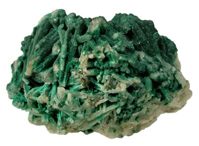 Cerussite With Malachite Coating
