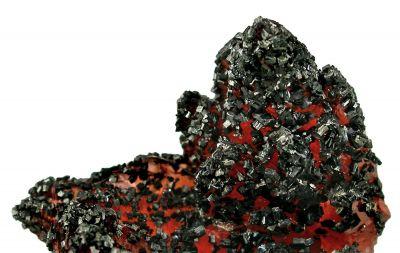 Manganite on Rhodochrosite