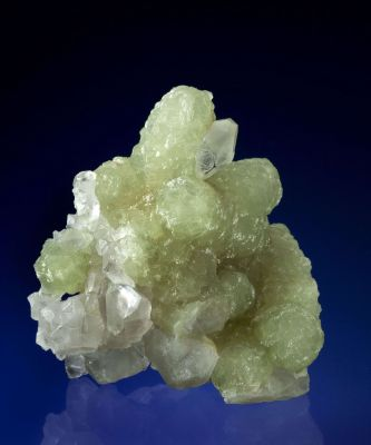 Prehnite Cast After Anhydrite With Calcite