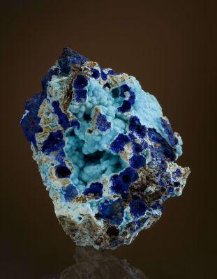Chalcoalumite With Azurite