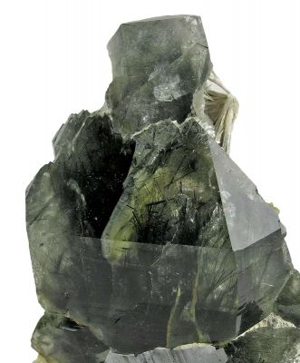 Quartz With Actinolite and Scolecite