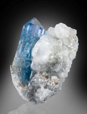 Euclase on Calcite