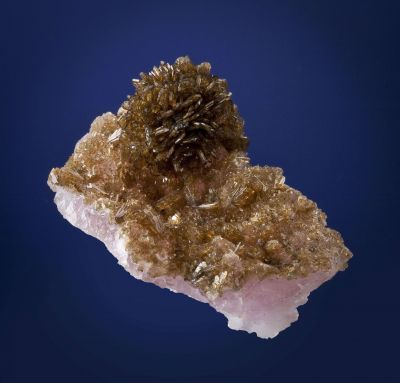 Eosphorite on Rose Quartz