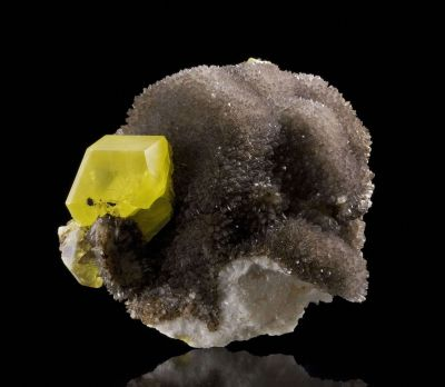 Sulfur on Calcite Ps. Aragonite