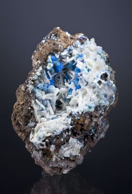 Dundasite on Hydrocerussite