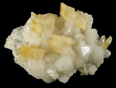 Gypsum (Twinned) on Quartz