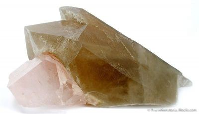 Morganite on Quartz