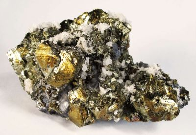 Chalcopyrite, Galena and Quartz