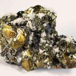 Chalcopyrite, Galena and Quartz